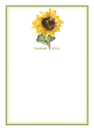 Thank You - Thank a sunflower