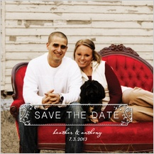 Save the Date Card with photo - muse - save the date