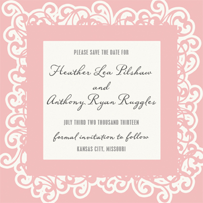 Save the Date Card - Princess - Save the Date