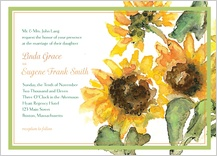 Wedding Invitation - sunflower time