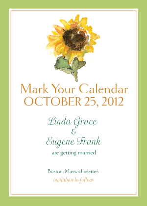 Save the Date Card - Sunflower Time