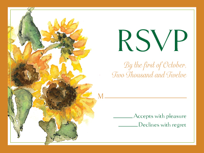 Response Card - Sunflower Time