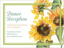 Reception Card - sunflower time