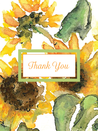 Wedding Thank You Card - Sunflower Time