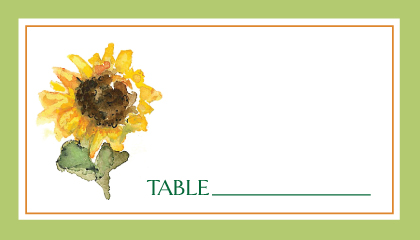 Place Card - Sunflower Time
