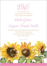 Wedding Invitation - sunflower too!