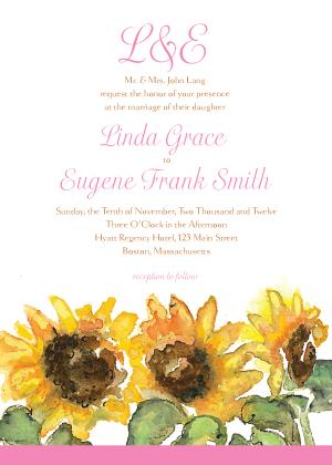 Wedding Invitation - Sunflower Too!