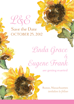Save the Date Card - Sunflower Too!