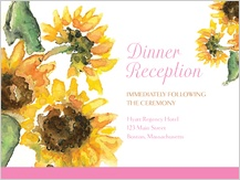 Reception Card - sunflower too!