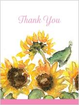 Wedding Thank You Card - sunflower too!