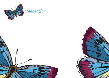 Thank You - butterflies