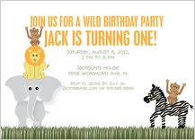 Birthday Party Invitation - wild safari party