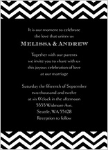 Wedding Invitation - chevron wedding