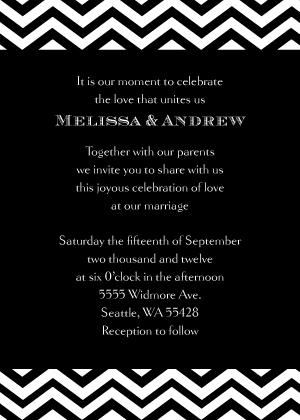Wedding Invitation - Chevron Wedding