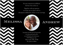 Wedding Invitation with photo - chevron wedding
