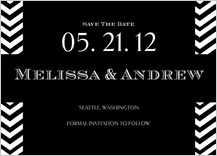 Save the Date Card - chevron wedding