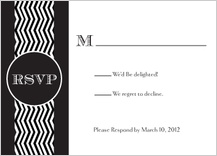 Response Card - chevron wedding