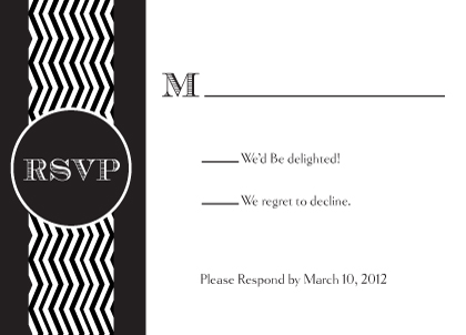 Response Card - Chevron Wedding
