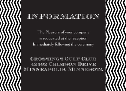 Reception Card - Chevron Wedding