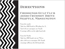 Direction - chevron wedding
