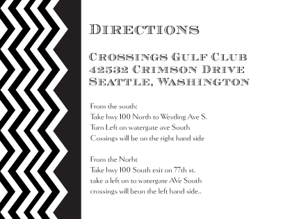 Direction - Chevron Wedding