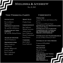 Program - chevron wedding