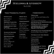 Program - chevron wedding
