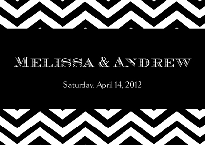 Gift Enclosure - Chevron Wedding