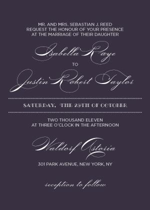 Wedding Invitation - Lux Reverse