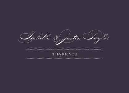 Wedding Thank You Card - Lux Reverse