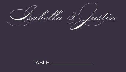 Place Card - Lux Reverse