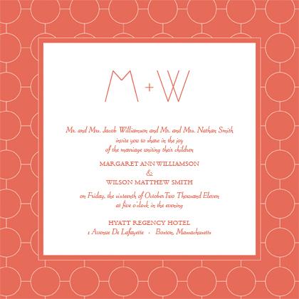 Wedding Invitation - Simple Chic Reverse
