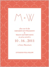 Save the Date Card - simple chic reverse