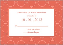 Response Card - simple chic reverse
