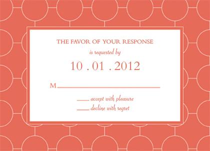 Response Card - Simple Chic Reverse