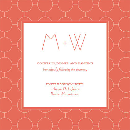 Reception Card - Simple Chic Reverse