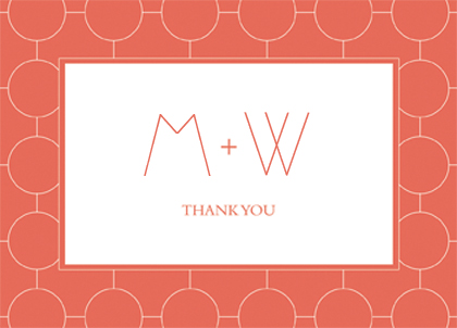 Wedding Thank You Card - Simple Chic Reverse