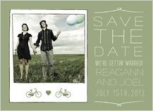 Save the Date Card with photo - new adventures