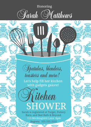 Wedding Shower Invitation - Kitchen Shower