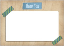 Baby Thank You Card - baby washi tape