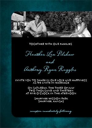 Wedding Invitation with photo - Treasured