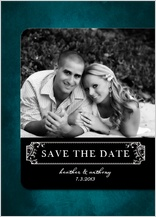Save the Date Card with photo - treasured - save the date