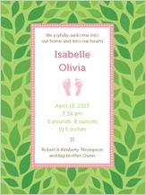 Birth Announcement - rock-a-bye baby