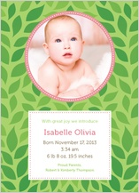 Birth Announcement with photo - rock-a-bye baby
