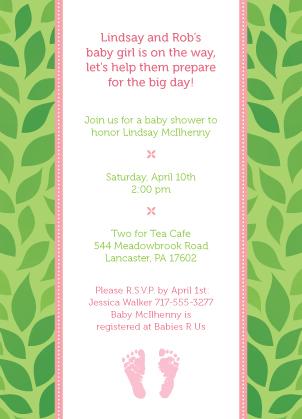 Baby Shower Invitation - Rock-a-bye Baby