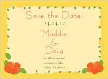 Save the Date Card - hibiscus