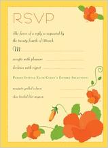 Response Card - hibiscus