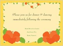 Reception Card - hibiscus