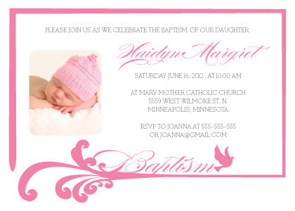 Christening Invitation Cards Templates for adorable invitations ideas