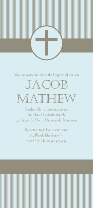 Baptism Invitation - Simple Stripe Baptism